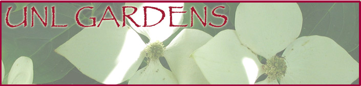 UNL Gardens website graphic image header