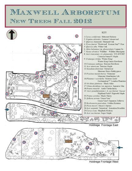 fall 2012 FOMA planting map