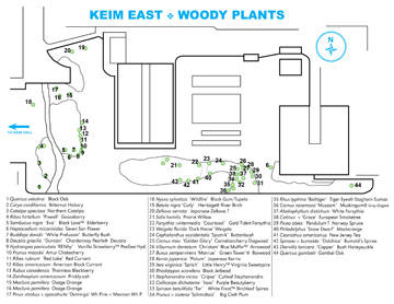 Keim hall East woody plant map